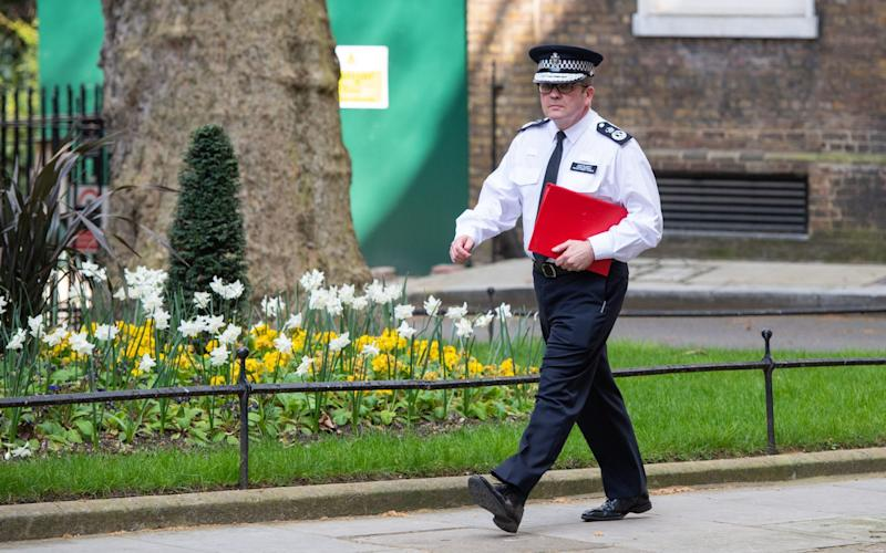 Chair of the National Police Chief's Council Martin Hewitt in Downing Street earlier this year - Dominic Lipinski/PA