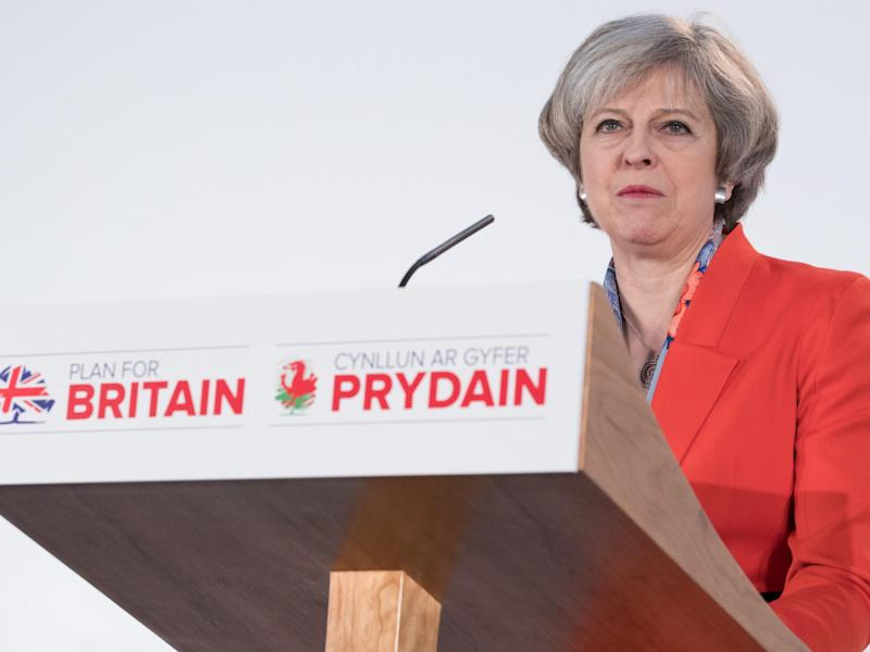 Theresa May (pictured at the Conservative Spring Forum in Cardiff on Friday) will visit Wales, Scotland and Northern Ireland prior to triggering Article 50: Getty