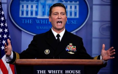 White House physician Dr. Ronny Jackson - Credit: AP