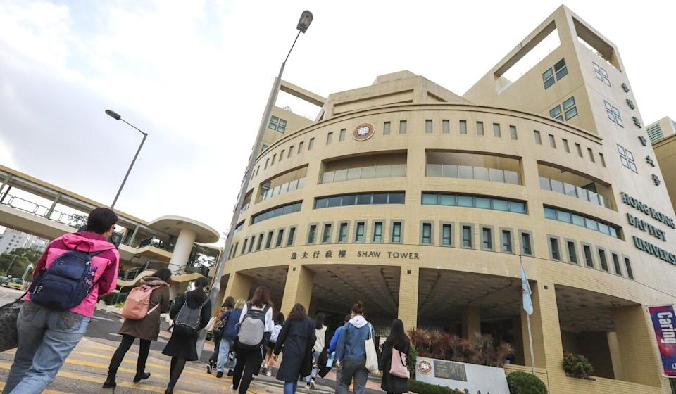 Parts of Hong Kong Baptist University (including Shaw Tower) in Kowloon Tong reopens for the start of term two in the wake of the extradition bill saga. Photo: Felix Wong