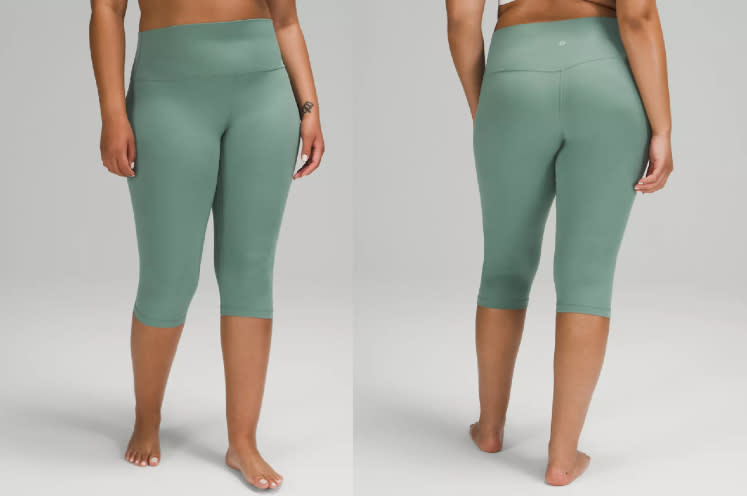These seafoam green Lululemon leggings are part of this week's We Made Too Much additions.
