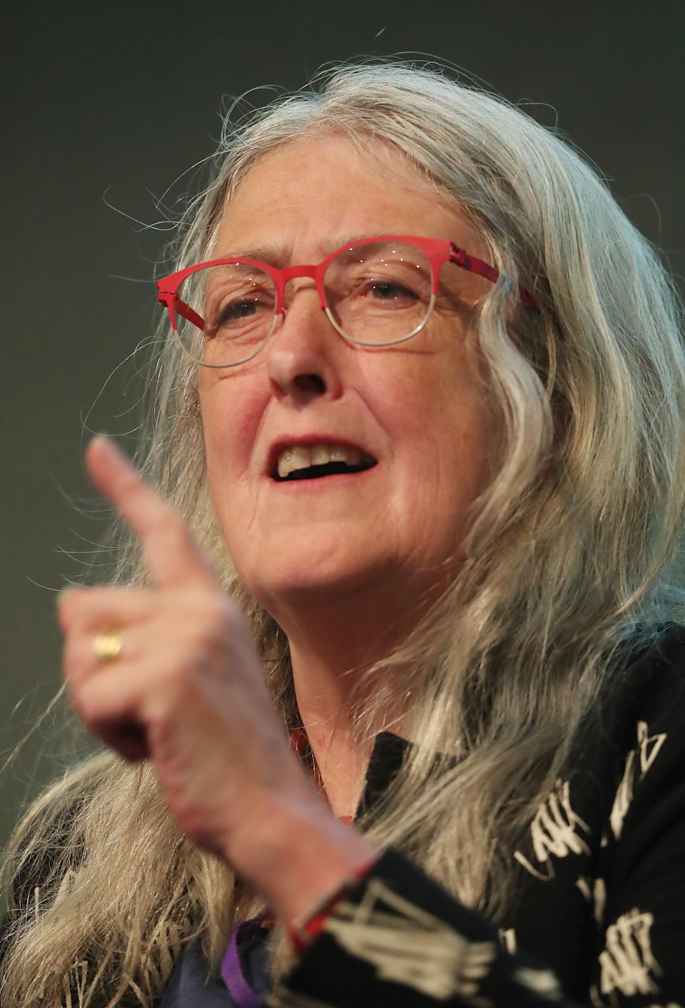 Professor Mary Beard at the International Congress of Parliamentary Women's Caucuses at Dublin castle today. (Photo by Niall Carson/PA Images via Getty Images)