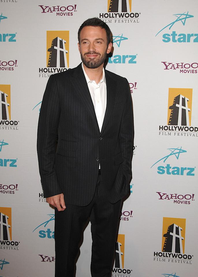 "<a href=""http://movies.yahoo.com/movie/contributor/1800018969"">Ben Affleck</a> at the Hollywood Film Festival's Hollywood Awards in Beverly Hills - 10/22/2007"
