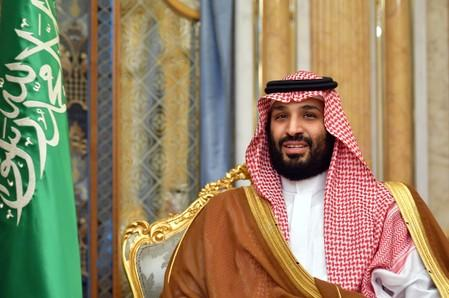 Saudi Arabia's Crown Prince Mohammed bin Salman attends a meeting with U.S. Secretary of State Mike Pompeo in Jeddah