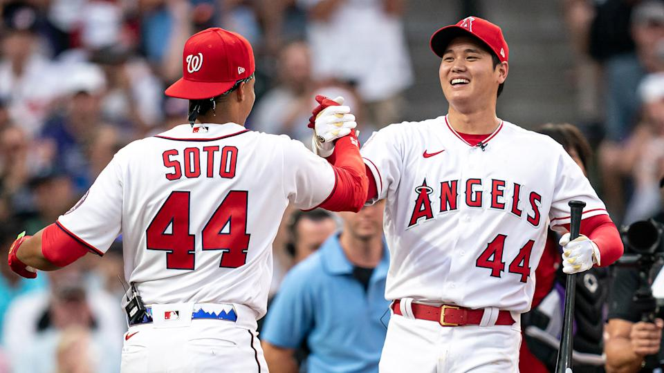 Juan Soto and Shohei Ohtani could determine the Blue Jays' playoff fate this weekend. (Photo by Matt Dirksen/Colorado Rockies/Getty Images)