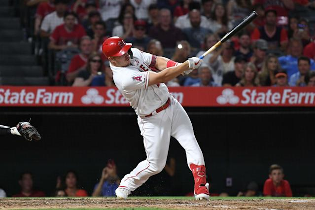 "Another year, another ridiculous season for <a class=""link rapid-noclick-resp"" href=""/mlb/players/8861/"" data-ylk=""slk:Mike Trout"">Mike Trout</a>. Mandatory Credit: Richard Mackson-USA TODAY Sports"