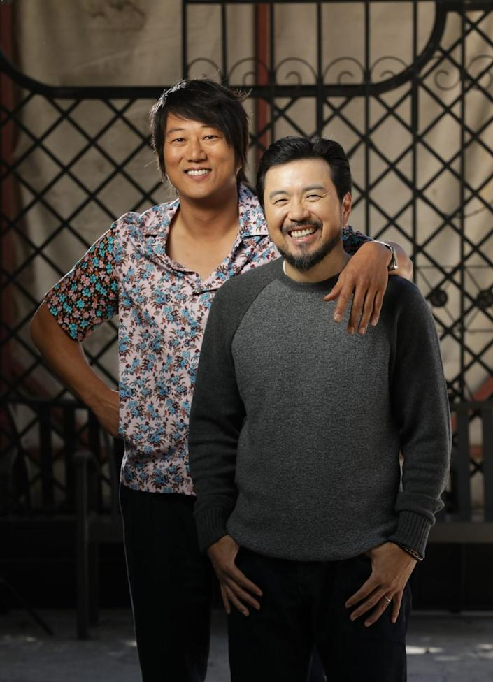 """Sung Kang, left, and director Justin Lin of """"F9"""""""