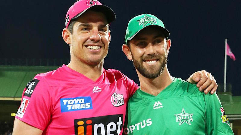Moises Henriques and Glenn Maxwell, pictured here before the Big Bash final at the SCG.