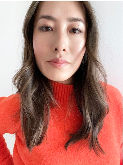 Melissa Leong in a red winter jumper