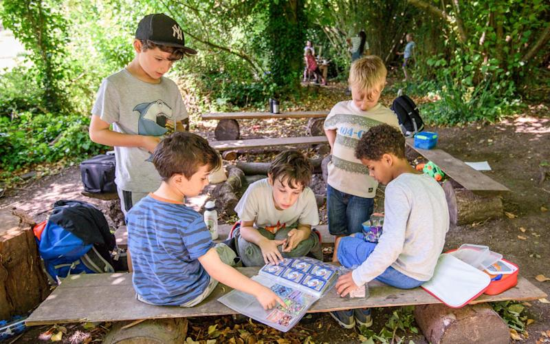 Children learn outdoors at Green House Project outside Bath - Credit: SWNS