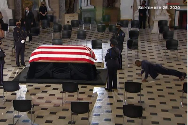 Ruth Bader Ginsburg's Trainer Did Pushups In Front of Her Casket To Honour Her