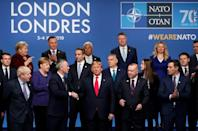 """Despite the rancour, the 29 members managed to agree a """"London Declaration"""""""