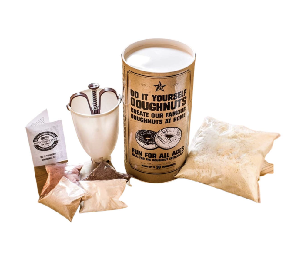 """<p><strong>Doughnuttery</strong></p><p>amazon.com</p><p><strong>$29.99</strong></p><p><a href=""""https://www.amazon.com/dp/B085CP7GV1?tag=syn-yahoo-20&ascsubtag=%5Bartid%7C10065.g.23515577%5Bsrc%7Cyahoo-us"""" rel=""""nofollow noopener"""" target=""""_blank"""" data-ylk=""""slk:Shop Now"""" class=""""link rapid-noclick-resp"""">Shop Now</a></p><p>This gift may have his name on it, but it's secretly for you. 😉</p>"""