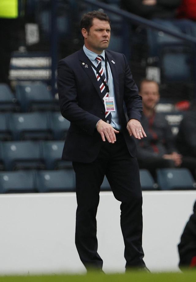 Soccer Football - Scottish Cup Semi Final - Celtic vs Rangers - Hampden Park, Glasgow, Britain - April 15, 2018 Rangers manager Graeme Murty Action Images via Reuters/Lee Smith