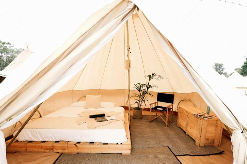 This is glamping - Mercedes Benz style. Source: Mercedes Benz glamping