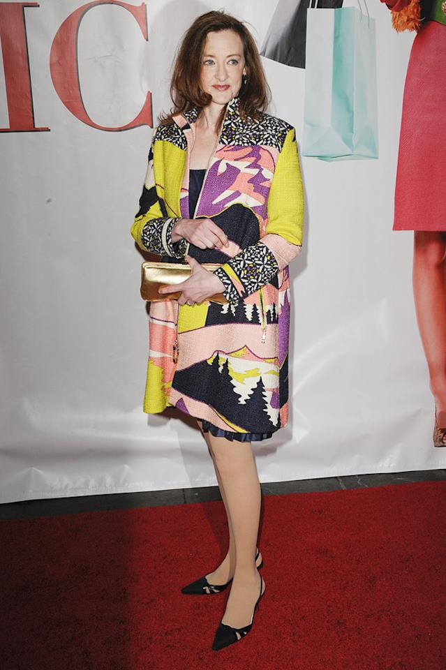 """<a href=""""http://movies.yahoo.com/movie/contributor/1800016005"""">Joan Cusack</a> at the New York premiere of <a href=""""http://movies.yahoo.com/movie/1809973783/info"""">Confessions of a Shopaholic</a> - 02/05/2009"""