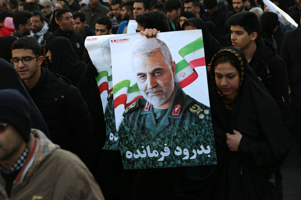 Millions mourners pay homage to assassinated Iranian Major Geneneral Soleimani in US Airstrike. The Pentagon announced that Iran's Quds Force leader Qassem Soleimani and Iraqi militia commander Abu Mahdi al-Muhandis were killed on 03 January 2020 following a US airstrike at Baghdad's international airport. (Photo by Mazyar Asadi/Pacific Press/Sipa USA)