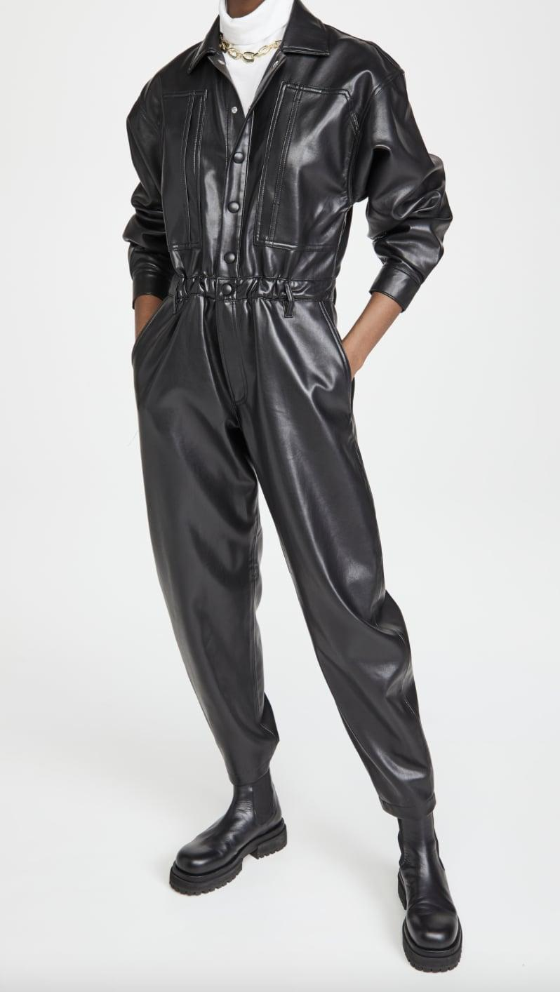 <p>Go big and bold with this <span>Agolde Vegan Leather 80's Waisted Jumpsuit</span> ($378). It has the word edgy written all over it, and will make you look effortlessly cool.</p>