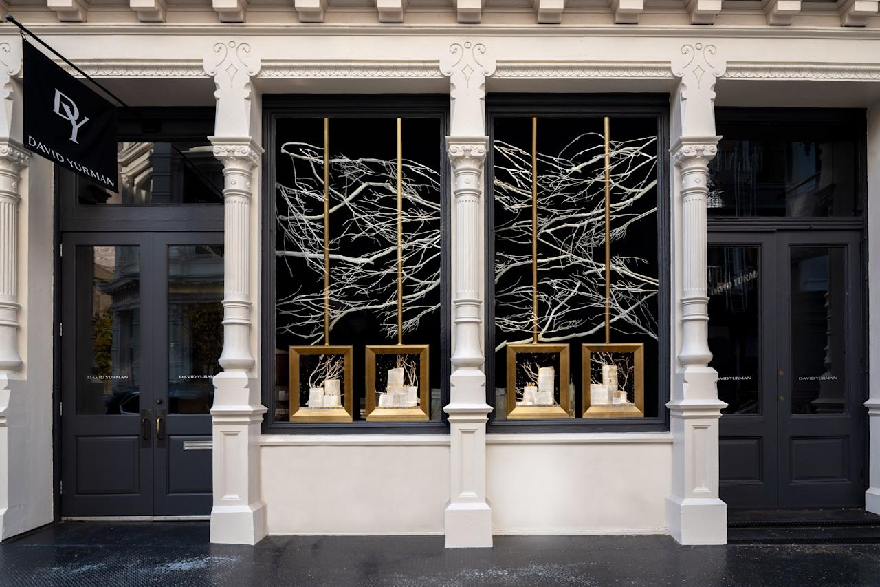 """<p>Jewelry designer David Yurman's boutique transports shoppers to an arctic wonderland, with windows filled with ice and snow. Aside from looking pretty, the displays also serve a greater purpose—throughout the rest of 2019, the store will donate 20 percent of sales from each North Star bracelet and necklace to <a href=""""https://polarbearsinternational.org/"""" target=""""_blank"""">Polar Bears International</a>, a non-profit dedicated to conserving polar bears and their environment.</p> <p><strong>Exact location:</strong> 114 Prince St., New York City</p>"""