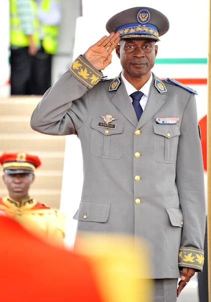 General Gilbert Diendere of Burkina Faso, pictured at Ouagadougou airport on September 18, 2015, is among those charged in connection with the killing of former leader Thomas Sankara (AFP Photo/Ahmed Ouoba)