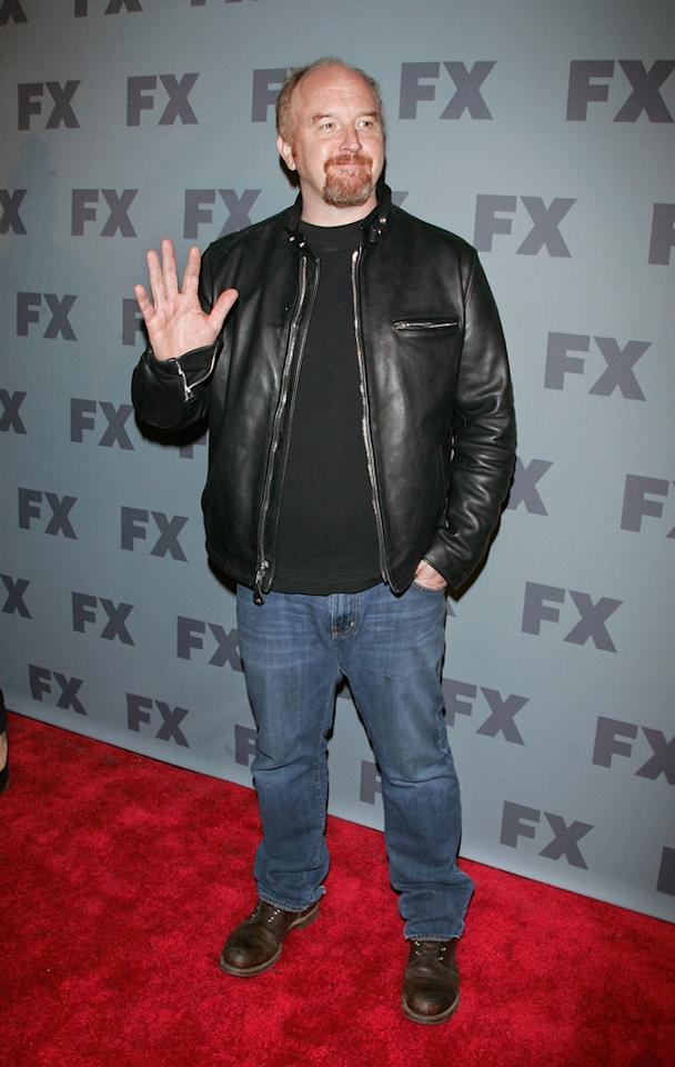 """Louis C.K. (""""<a href=""""http://tv.yahoo.com/louie/show/45161"""">Louie</a>"""") attends FX's 2012 Upfronts at Lucky Strike on March 29, 2012 in New York City."""