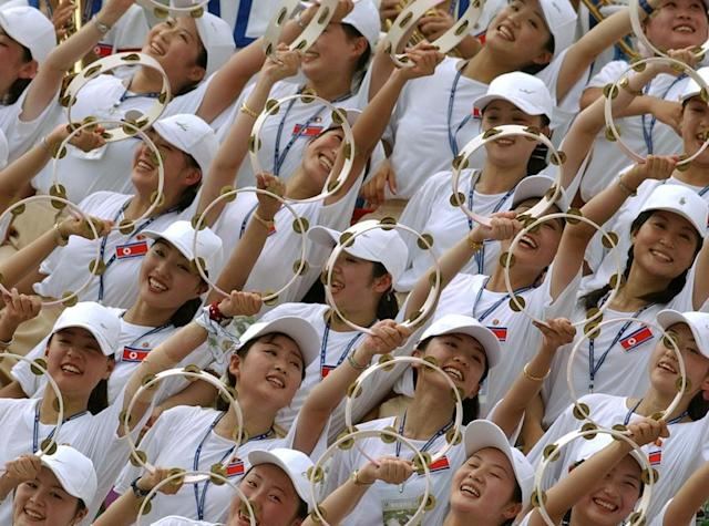 A South Korean official said the North has offered to send 230 cheerleaders to the Olympics (AFP Photo/STR)