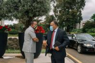 Ethiopian Prime Minister Abiy Ahmed meets with AU envoys in Addis Ababa