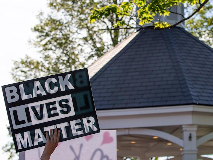 <p>Hundreds of thousands attended BLM protests across the UK last summer</p> (EPA-EFE)
