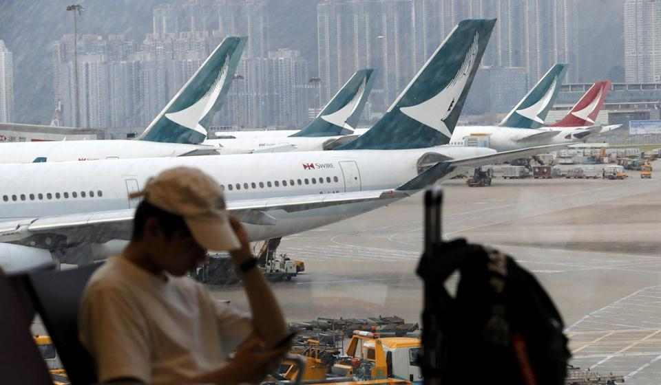 """Cathay Pacific has the second half of its 2019 profit outlook would be """"significantly below"""" the first six months of last year. Photo: AP"""