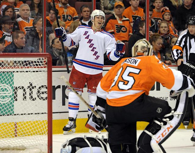 Chris Kreider out for next 5 games; Marty St. Louis to Rangers' Nash line?