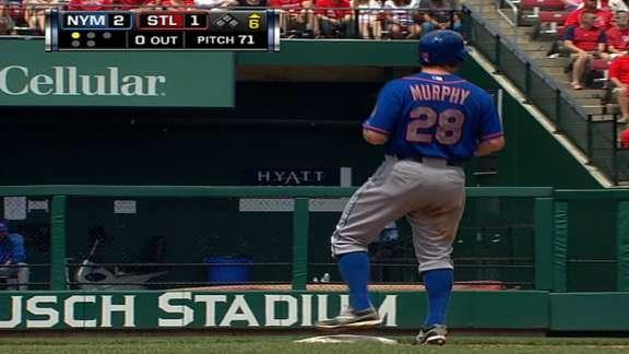 Zoinks! Daniel Murphy's double vanishes through outfield wall (Video)