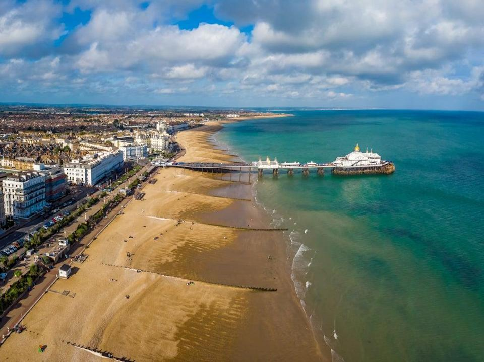 <p>Aerial view of Eastbourne in summer</p> (Getty/iStock)