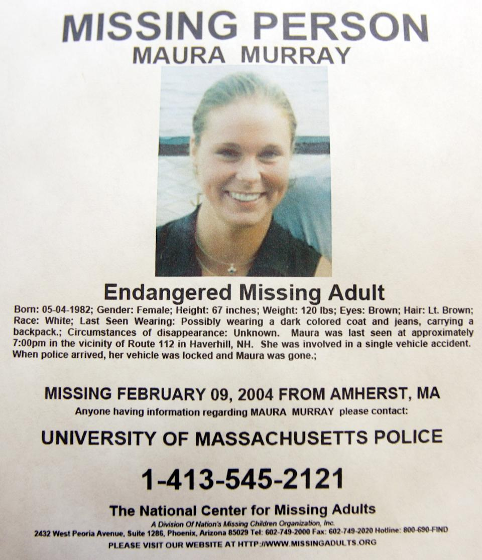 <p>Maura Murray went missing in February 2004 – the case remains unsolved and open</p>AP/Jim Cole