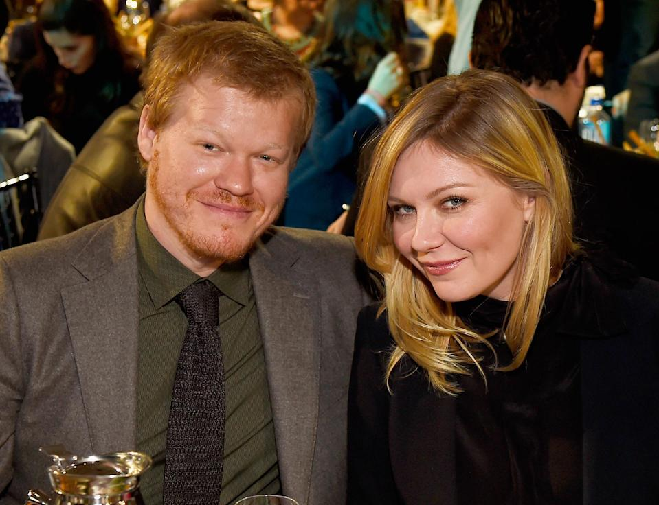 """<p>Congratulations are in order for Kirsten Dunst and her fiancé, actor Jesse Plemons, who have welcomed their first child, a baby boy, on May 3, 2018. And the name is a little on the unusual side.<br>According to a new report in <a href=""""https://theblast.com/kirsten-dunst-jesse-plemons-ennis-howard-baby/"""" rel=""""nofollow noopener"""" target=""""_blank"""" data-ylk=""""slk:The Blast"""" class=""""link rapid-noclick-resp""""><em>The Blast</em></a>, Dunst and Plemons have chosen to name their little one Ennis Howard Plemons. Makes us think of Jessica Ennis but we still kinda like it. <em>[Photo: Getty]</em> </p>"""