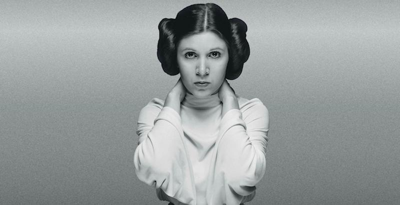 Carrie Fisher as Princess Leia. (Credit: LucasFilm)