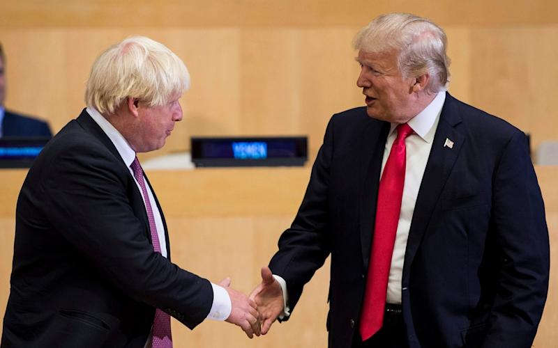 Boris Johnson and Donald Trump - AFP