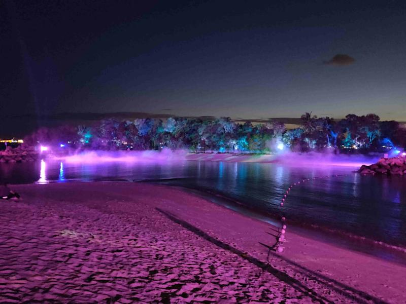Magical Shores is a new light art attraction on Sentosa. Photo: Nafi Wernsing / Coconuts