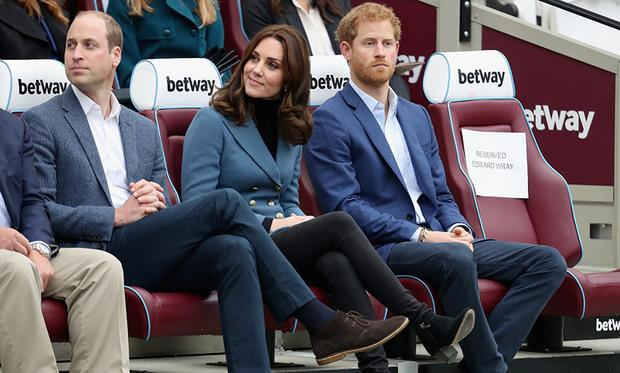 Kate with Princes Harry and William
