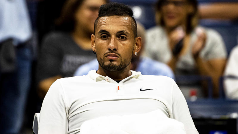 Nick Kyrgios has lashed out at the ATP for attempting to organise the US Open in the current climate. (Getty Images)