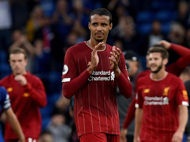 Joel Matip of Liverpool showing his appreciation to the fans: Liverpool FC via Getty Images