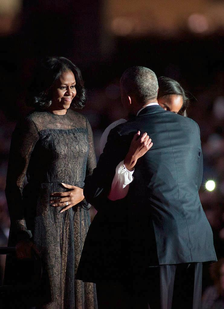 It was an emotional farewell speech, and Michelle Obama marked the occasion in one of her favorite designers, Jason Wu. (Photo: Getty)
