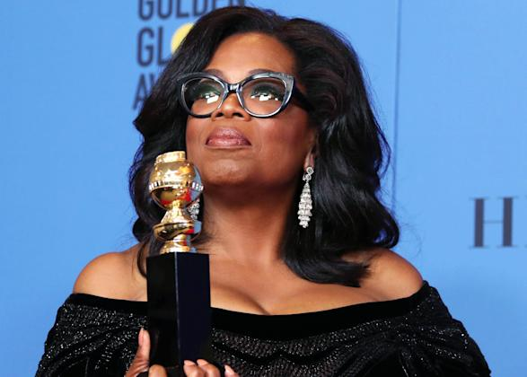 Image result for Oprah Winfrey brings the Golden Globes to tears with inspiring speech