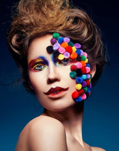 Make-up artists have really pushed the boundaries with the new pom pom trend.