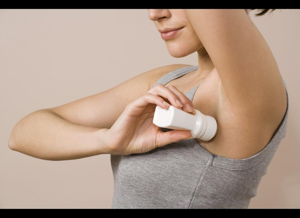 """Take action as soon as you step out of the shower to stave off perspiration for the rest of the day, suggests Dr. Wu. You haven't got a chance if you're already sweating before you get to the deodorant, so she suggests using a hair dryer to blow cool air under your arms before you apply.     If this doesn't cut it, extra strength antiperspirants (such as <a href=""""http://www.amazon.com/Dove-Clinical-Protection-Original-1-7-Ounce/dp/B001ECQ56Q/ref=sr_1_1?s=hpc&ie=UTF8&qid=1309287160&sr=1-1"""" target=""""_hplink"""">Dove Clinical Protection</a> or <a href=""""http://www.amazon.com/Secret-Clinical-Strength-Advanced-1-6-Ounce/dp/B001F51VS4/ref=sr_1_1?s=hpc&ie=UTF8&qid=1309287181&sr=1-1"""" target=""""_hplink"""">Secret Clinical Strength</a>) might do the trick.     In extreme cases, Dr. Wu says your dermatologist might recommend Botox injections to help with excessive sweating. """"Botox stops sweating by blocking the signal from the nerve endings that tell the sweat glands to secrete sweat,"""" she explains."""