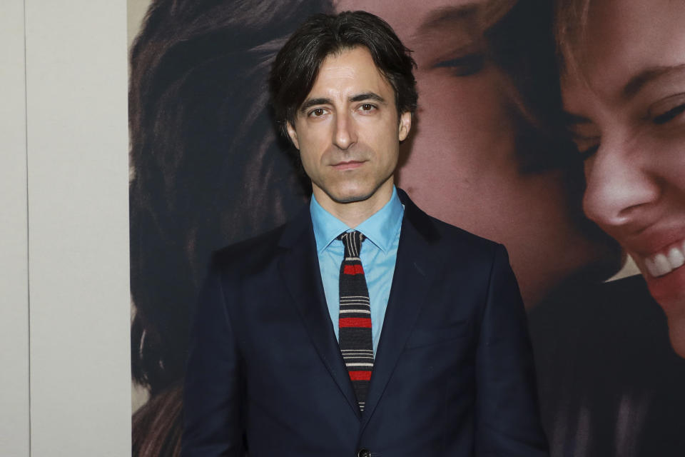 """Noah Baumbach attends the premiere of """"Marriage Story"""" at the Paris Theater on Sunday, Nov. 10, 2019, in New York. (Photo by Jason Mendez/Invision/AP)"""
