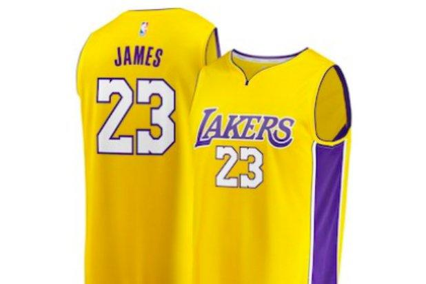 sports shoes ca7ce 84b1b Why You Can't Get a LeBron James LA Lakers Jersey This Week