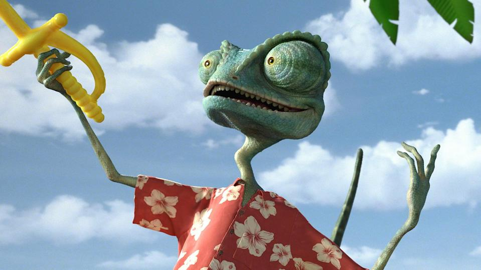 """<p><strong>Hulu's Description:</strong> """"A chameleon that aspires to be a swashbuckling hero finds himself in a Western town plagued by bandits and is forced to literally play the role in order to protect it.""""</p> <p><span>Stream <strong>Rango</strong> on Hulu!</span></p>"""