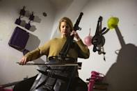 Macura collaborated with cellist Milica Svirac to make this instrument from a bazooka and army gas bucket