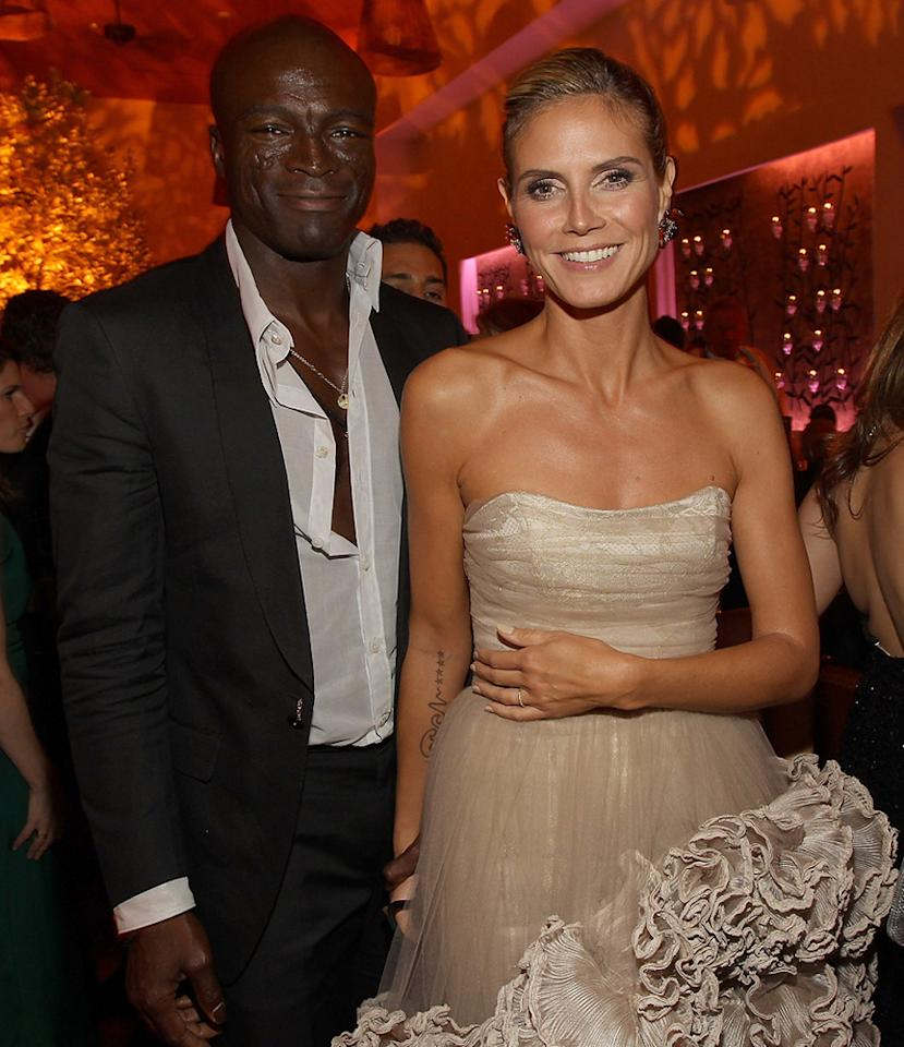 """""""Project Runway"""" hostess with the mostest Heidi Klum and hubby Seal celebrated at the Fox and FX-hosted fete at Fig & Olive, located on trendy Melrose Place. Christopher Polk/<a href=""""http://www.gettyimages.com/"""" target=""""new"""">GettyImages.com</a> - September 18, 2011"""