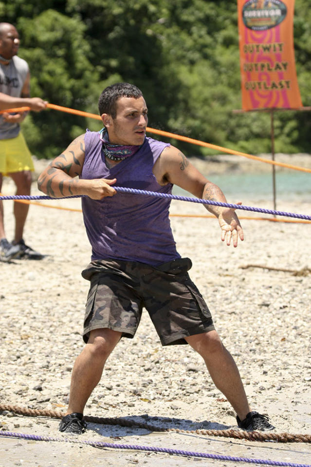 """Second Episode"" - Brandon Hantz of the Bikal Tribe during the second episode of ""Survivor: Caramoan - Fans vs. Favorites."""